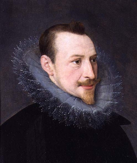 Portrait of Edmund Spenser by an unknown artist