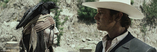 Tonto and the Lone Ranger seriously talking about events of the day.