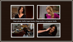 The Bold and the Beautiful:  Hope Pushes a Pregnant Steffy!