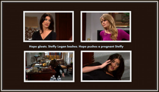 Unaware that Steffy is pregnant, Hope lost her temper and pushed Steffy