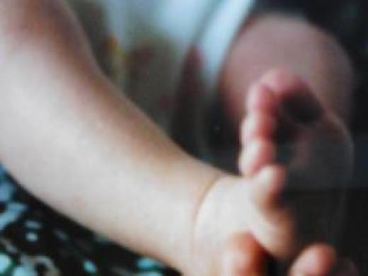Daughter's baby feet.