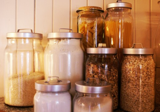 Mason jars make good storage containers.  image:sxc