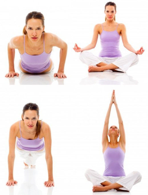 Yoga and stretching exercises can loosen your body and help you calm down.