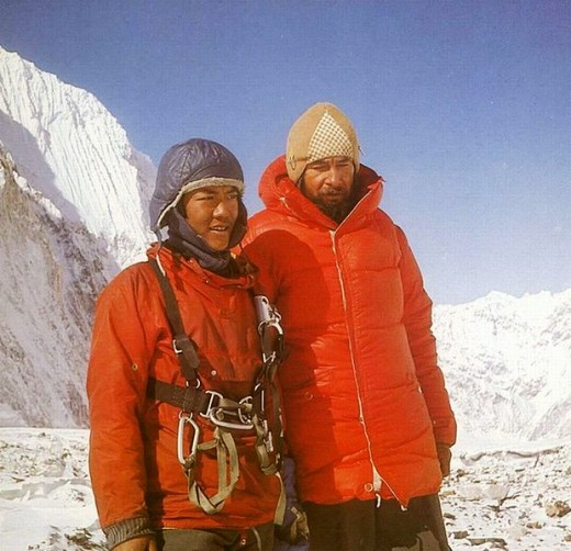Sherpa Pasang Norbu and Polish Mount Climber Andrzej Heinrich