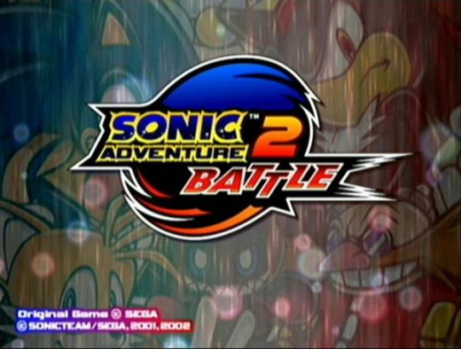 Title screen of Sonic Adventure 2: Battle on the Nintendo Gamecube, and on Xbox Live Arcade after buying the Battle DLC
