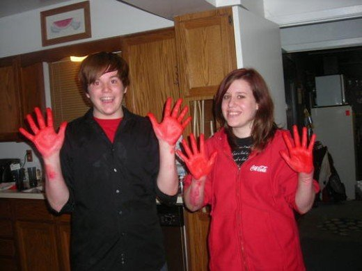 Caught red handed! Use gloves or this could be you!
