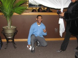 Reggie Myers, did an artistic tap dance that captivated the audience.