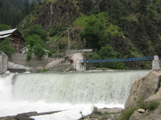 Scenic waterfall in Kuton Town, Neelum Valley. There is a very comfortable and beautiful resort in Kuton which can be booked from Muzaffarabad.