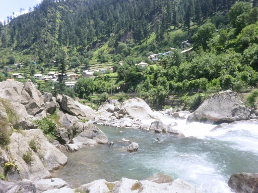 a view of Kuton town, Neelum Valley.