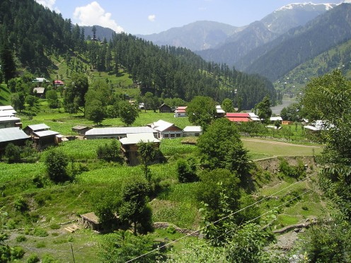 Sharda Town in Neelum Valley. The town in also host to the ruins of an ancient Buddhist temple.