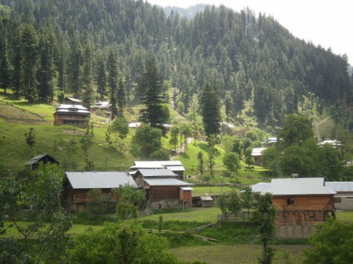Another view of Sharda town, Neelum Valley. The town has a small Bazaar and health care center as well as some rest houses. Best town in the entire valley in my opinion.
