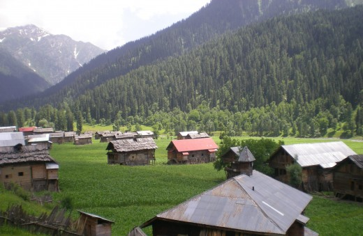 Taobat town, Neelum Valley.