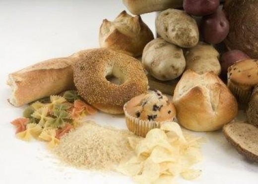 A few examples of carbohydrate rich foods.