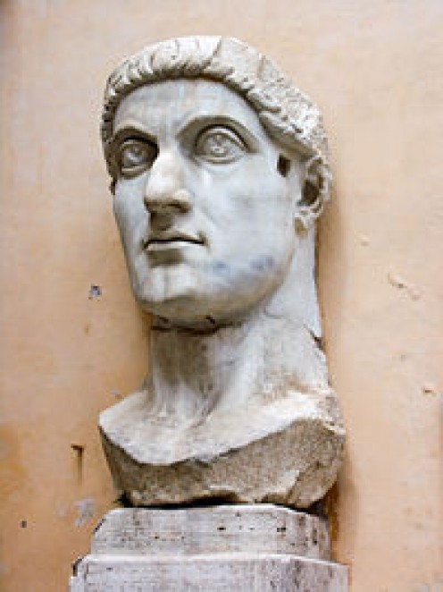 Head of Constantine's colossal statute at the Capitoline Museums