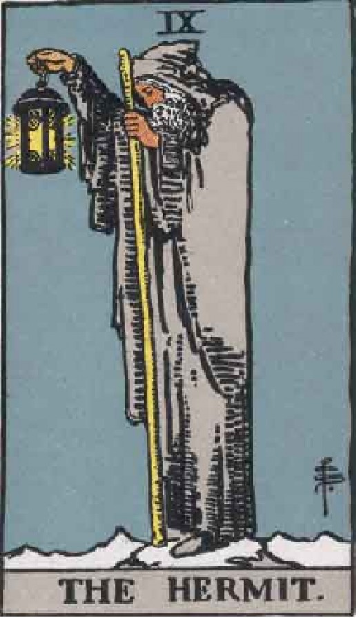 The Hermit, the author's favorite card, which appears in readings when you aren't trusting your intuition enough!