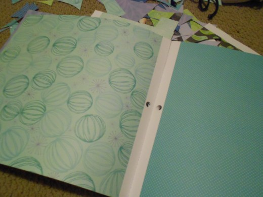 Select papers from card or scrapbooking papers to cover the journal