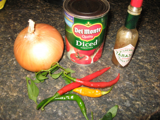some of my favorite salsa ingredients