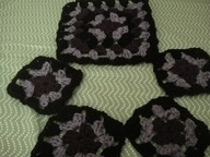 Another granny square cro het item, placemat and coasters!