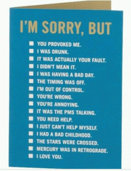 Love is saying sorry sometimes