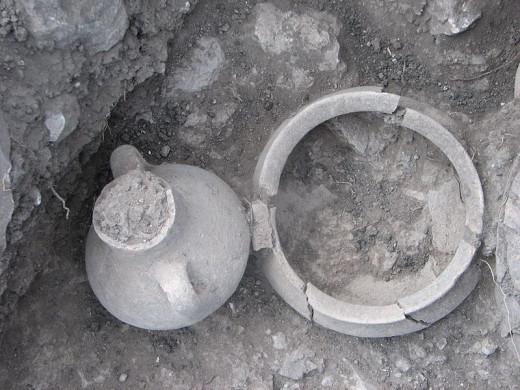 Tell mound excavated by Haarachalog Zertal and Shai Bar at Haifa University, Israel.