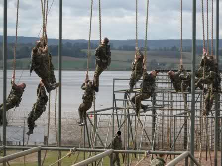 Part of the 'Bottom Field' assault course.