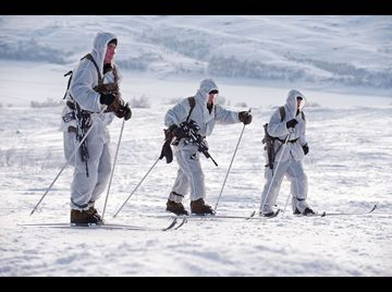 Royal Marine Commando arctic training.
