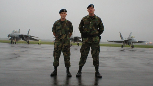 Jared Bruno and I Misawa Air Show 2002