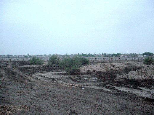 Jacobabad Airfield Overlooking the City about 200-300 Yards Away.