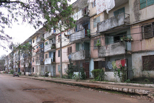 Maxim Nedashkovskiy photographed these apartments in Moa, Cuba on April 5, 2008.