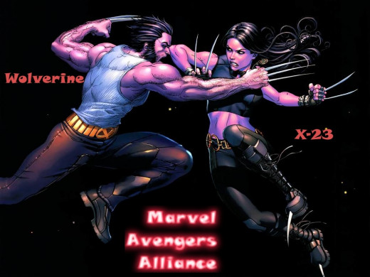 Wolverine fighting clone X-23