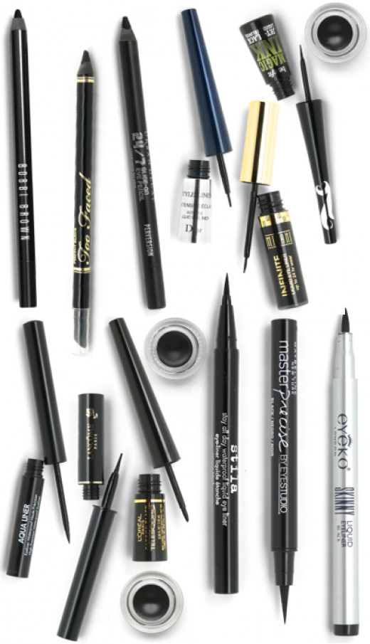 Different types of eyeliner from beautezine.com