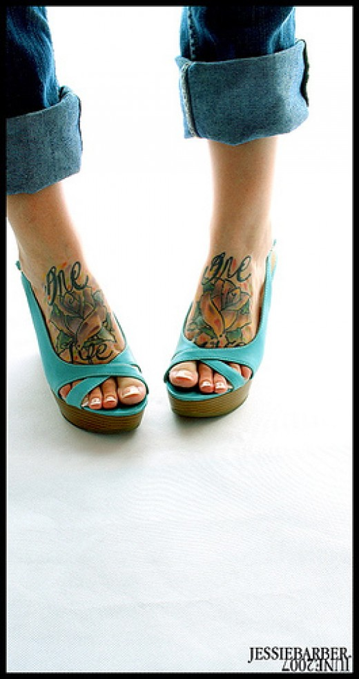 This is a hot foot tattoo design! Didn't fit in any above category so it