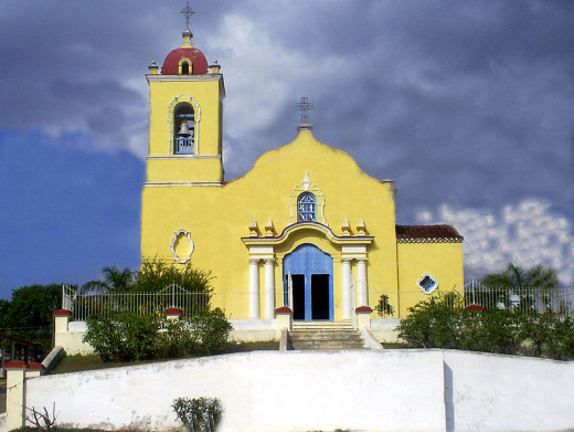 Yerandy1990 photographed the Roman Catholic Church of San Joaquín, San Luis, Pinar del Río, Cuba on December 24, 2008.