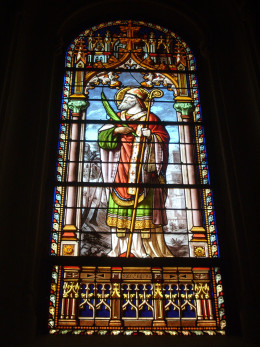 One of several stain glass windows