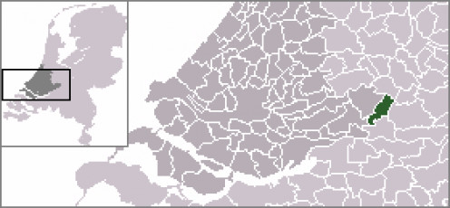Map location of Leerdam, South Holland, The Netherlands