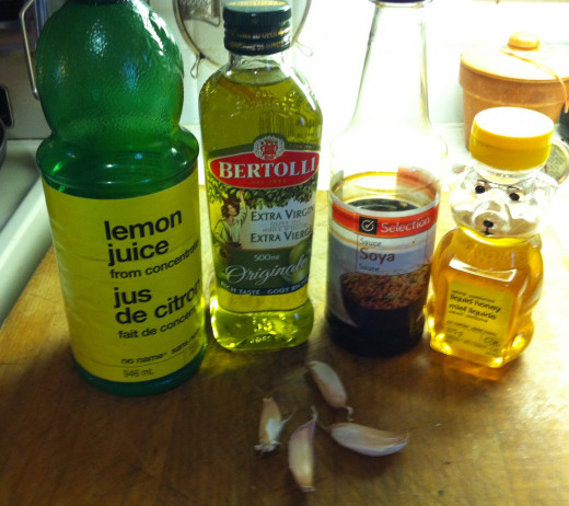Ingredients for Honey Garlic Marinade