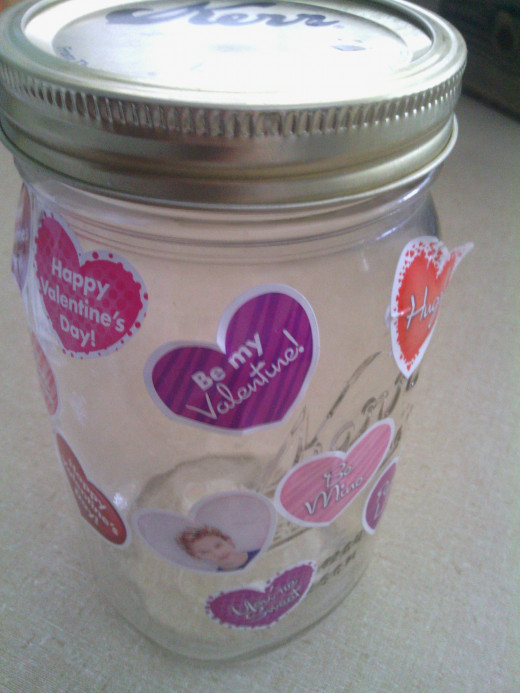 Home-Made is great! love jar. filled it with loving thoughts.