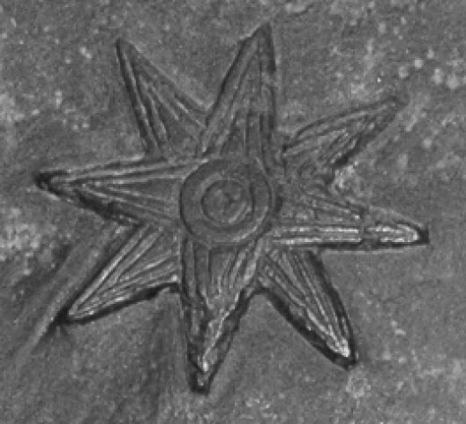 Inanna's eight pointed star symbol