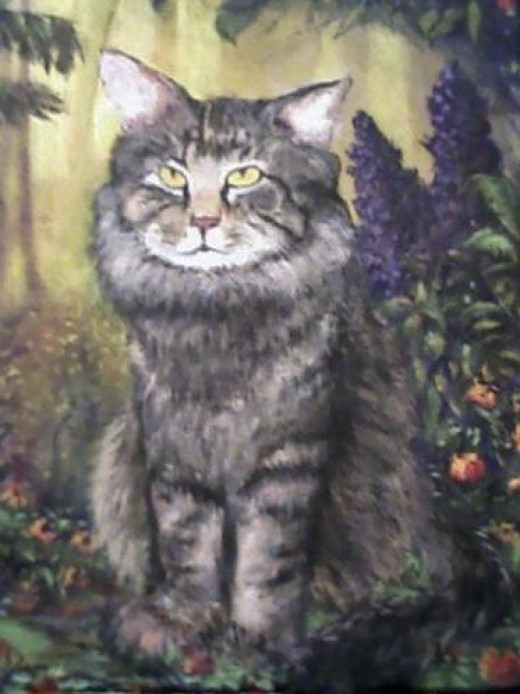 """Chewy"" my best friends cat, acrylic on canvas"