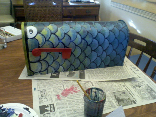 aluminum fish mailbox
