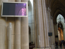 You can tell this is an active and modern cathedral.  Look at all the monitors for better viewing!