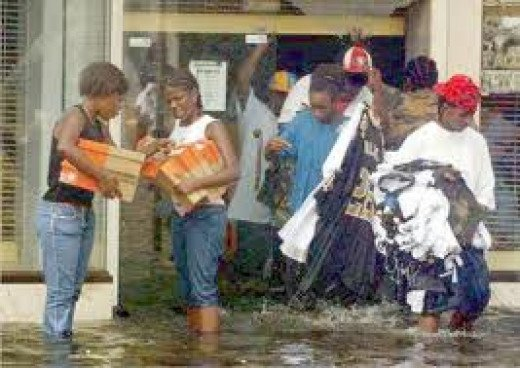 During the Katrina disaster in New Orleans, many people resorted to the lowest common denominator, stealing and performing other illegal acts.