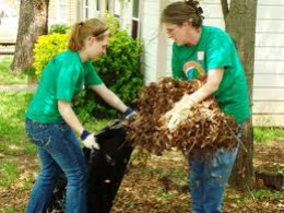 Neighbors pitching in during disaster relief.