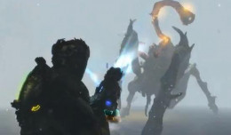 Dead Space 3 defeat the necromorph by destroying the flashing bulbs in the tentacles
