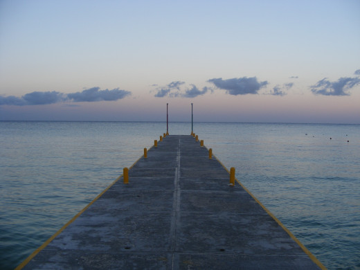 The dock on the Allegro's Beach provides the perfect setting to watch the sun go down at the end of the day.