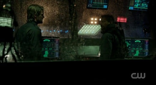 Oliver and Slade take over the air control tower.