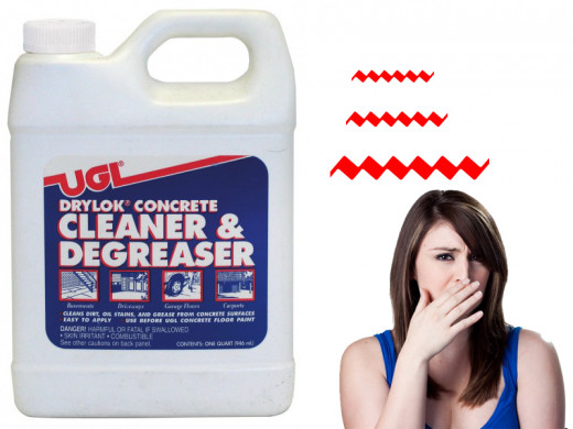 Be careful some cleaners smell like paint thinner
