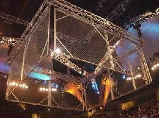 The steel cage match is one of the most popular matches there is. You must climb over the top of the cell and get to the floor on the other side in order to win this match.