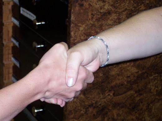 Handshakes bind