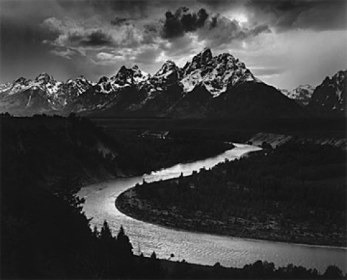 The Tetons and Snake River by Ansel Adams, 1942